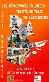 Invitation au Lundi québécois du 16juin