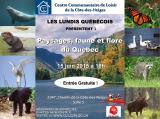 Invitation au Lundi Québécois du 15 juin 2015 «Paysages, faune et flore duQuébec»