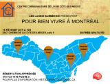 Invitation au Lundi Québecois du 16 février 2015. «Pour bien vivre à Montréal…»