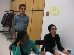 (De gauche à droite) Tarah, Jorge, Françoise.
