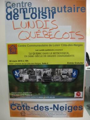 Affiche du Lundi québécois