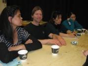 Participants à l'œuvre.