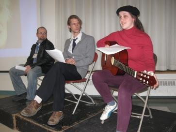(De gauche à droite) Sylvain, Vincent, Judith.