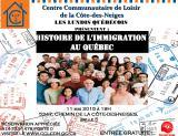 Invitation au Lundi Québécois du 11 mai 2015 «L'histoire de l'immigration auQuébec»